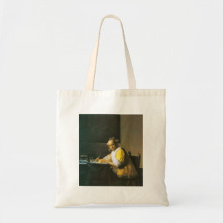 Woman in yellow by Johannes Vermeer Canvas Bag