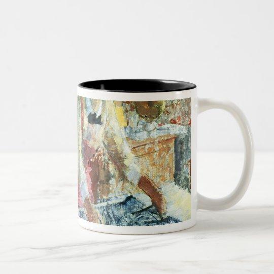 Woman Ironing, 1912 Two-Tone Coffee Mug