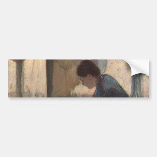 Woman Ironing by Edgar Degas Car Bumper Sticker