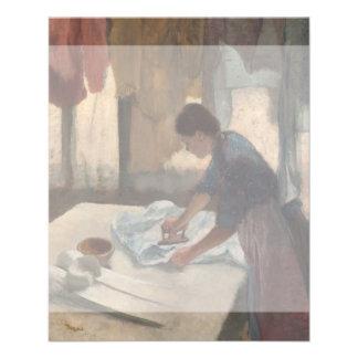 Woman Ironing by Edgar Degas Flyer
