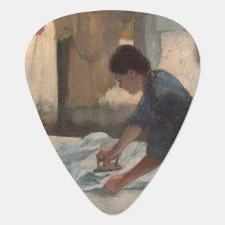 Woman Ironing by Edgar Degas Guitar Pick