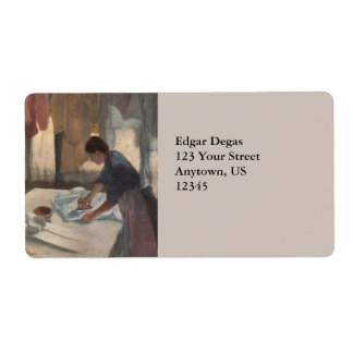 Woman Ironing by Edgar Degas Label