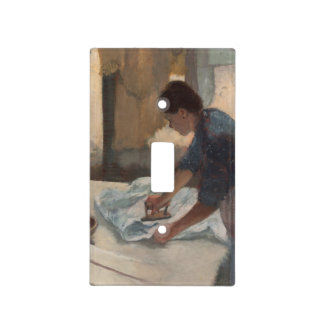 Woman Ironing by Edgar Degas Switch Plate Cover