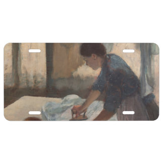 Woman Ironing by Edgar Degas License Plate