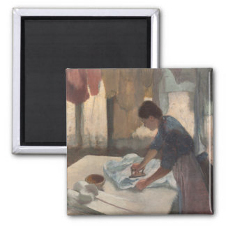 Woman Ironing by Edgar Degas Magnet