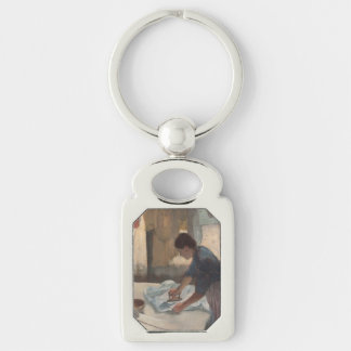 Woman Ironing by Edgar Degas Keychains