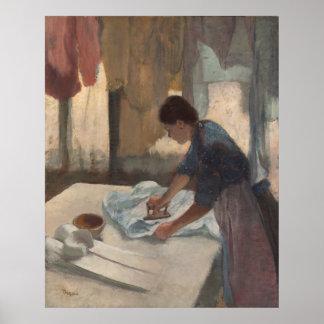 Woman Ironing by Edgar Degas Poster