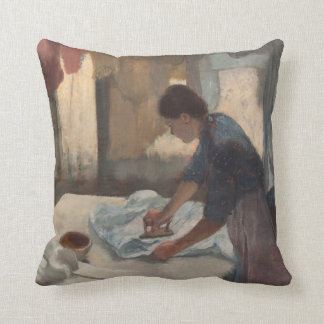 Woman Ironing by Edgar Degas Throw Pillow