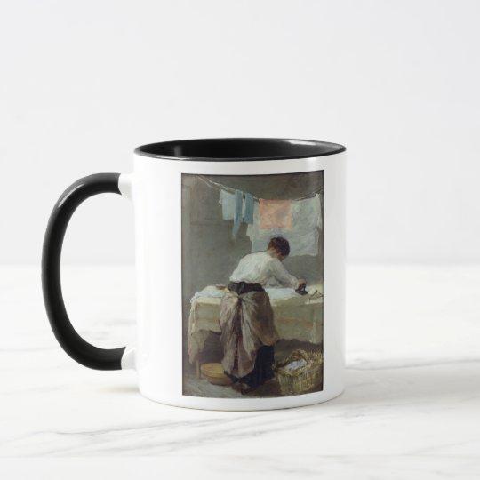 Woman Ironing Mug