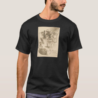 Woman Jack O' Lantern Candle Spider Web T-Shirt