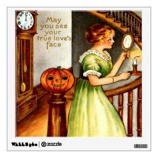 Woman & Jack O' Lantern Wall Sticker