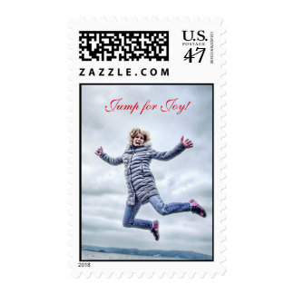 Woman Jumping For Joy Postage