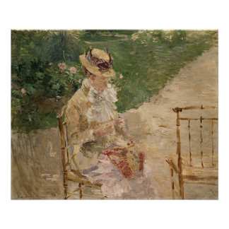 Woman Knitting, Berthe Morisot Fine Ar Print