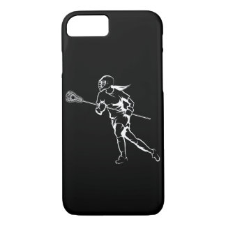 Woman Lacrosse Player Running iPhone 8/7 Case