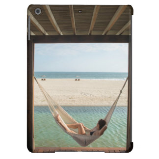 Woman Laying On A Hammock At A Small Hotel Cover For iPad Air