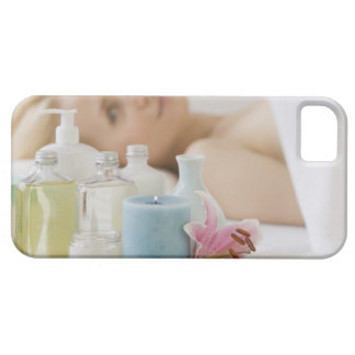 Woman laying on spa table iPhone SE/5/5s case