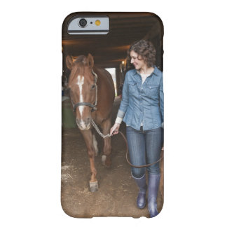 Woman leading horse barely there iPhone 6 case