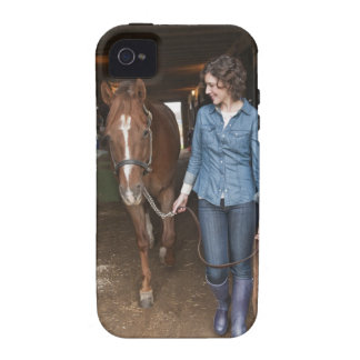 Woman leading horse vibe iPhone 4 covers