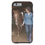 Woman leading horse tough iPhone 6 case