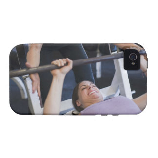 Woman lifting weights 2 iPhone 4 cover