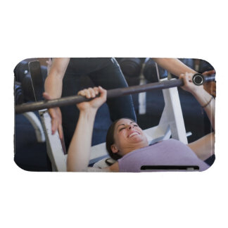 Woman lifting weights 2 iPhone 3 cases