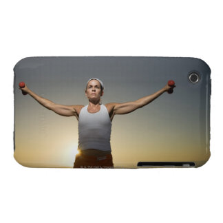 Woman lifting weights 4 Case-Mate iPhone 3 cases