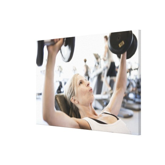 Woman Lifting Weights Canvas Print