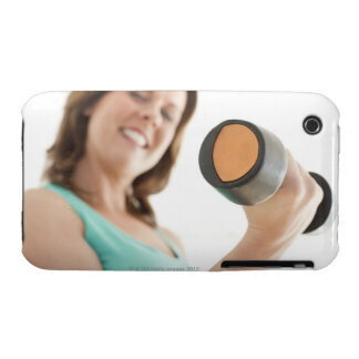 Woman lifting weights iPhone 3 case
