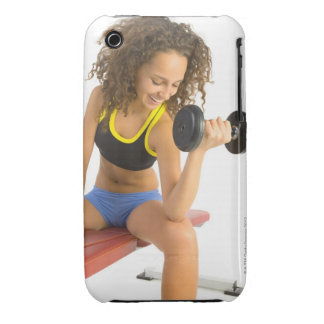 Woman lifting weights iPhone 3 covers