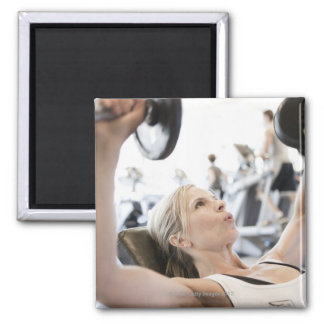 Woman Lifting Weights Magnet