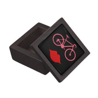 woman lips bike jewelry box