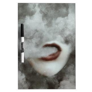 Woman Lips Clouds Vape Grunge Dry-Erase Board