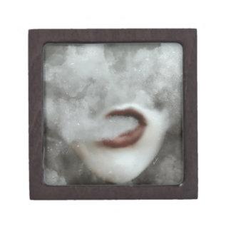 Woman Lips Clouds Vape Grunge Jewelry Box