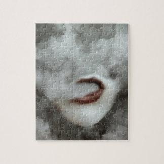 Woman Lips Clouds Vape Grunge Jigsaw Puzzle