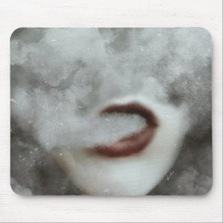 Woman Lips Clouds Vape Grunge Mouse Pad
