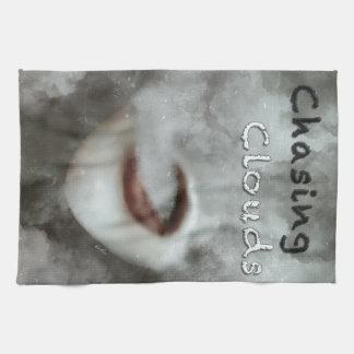 Woman Lips Clouds Vape Grunge Towels