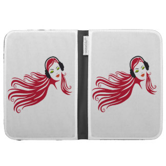 woman listening music case for kindle