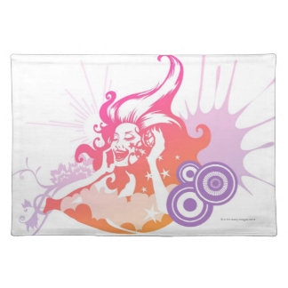 Woman Listening to Music Placemat