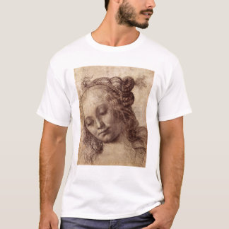 Woman Looking Down T-Shirt