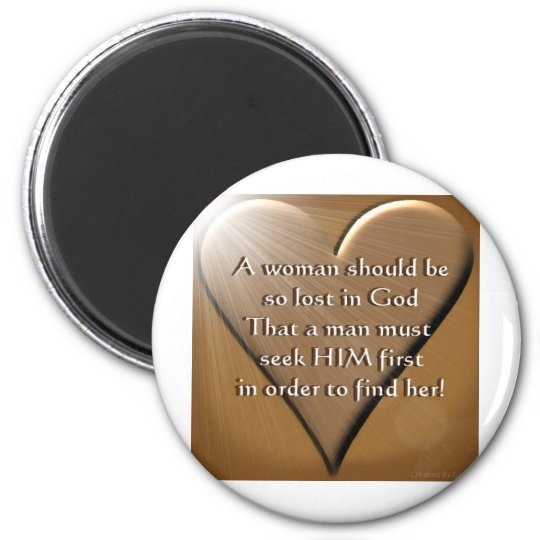 Woman Lost In God Magnet