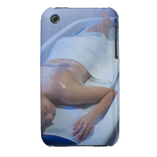 Woman lying down in vichy shower Case-Mate iPhone 3 case