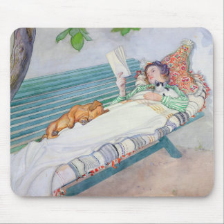Woman Lying on a Bench, 1913 Mouse Pad