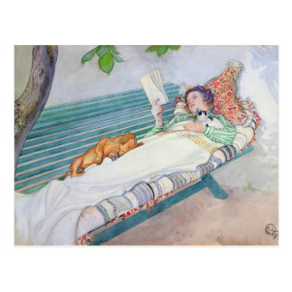 Woman Lying on a Bench, 1913 Postcard