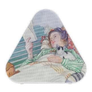 Woman Lying on a Bench, 1913 (w/c on paper) Bluetooth Speaker