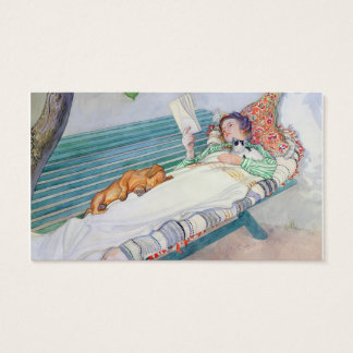 Woman Lying on a Bench, 1913 (w/c on paper) Business Card