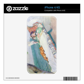 Woman Lying on a Bench, 1913 (w/c on paper) Decal For The iPhone 4S