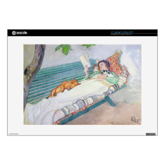 Woman Lying on a Bench, 1913 (w/c on paper) Decals For Laptops