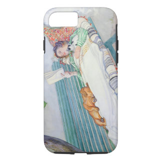 Woman Lying on a Bench, 1913 (w/c on paper) iPhone 7 Case