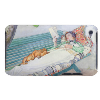 Woman Lying on a Bench, 1913 (w/c on paper) iPod Touch Covers