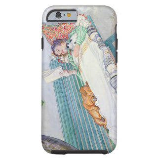 Woman Lying on a Bench, 1913 (w/c on paper) Tough iPhone 6 Case